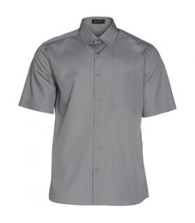 Camisa manga corta buena calidad superior gris