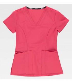 Casaca sanitaria para enfermeras, sanidad, farmacias, centros de belleza, elástica super cómoda.