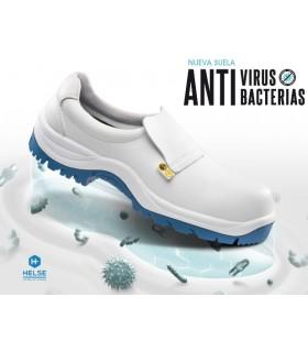 Zapato de trabajo anti bacterias covid suela Helse biocida auto-descontaminante