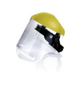Protector facial con visor claro de policarbonato.