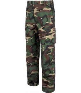 Pantalon de camuflaje multibolsillos.
