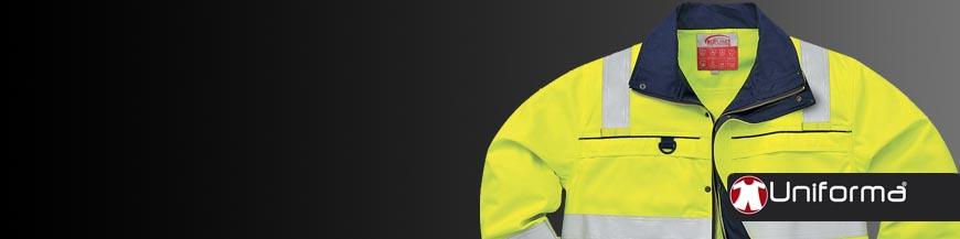 Chaquetas de trabajo protección riesgo químico