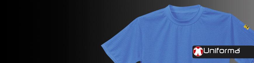 Camisetas anti estáticas disipativas ESD en uniforma
