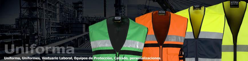 Chalecos reflectantes de alta visibilidad en uniforma